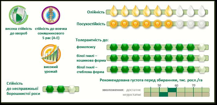 ПР64Ф50 (PR64F50) семена подсолнечника характеристики