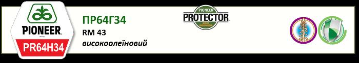 Семенаподсолнечника Pioneer PR64H34